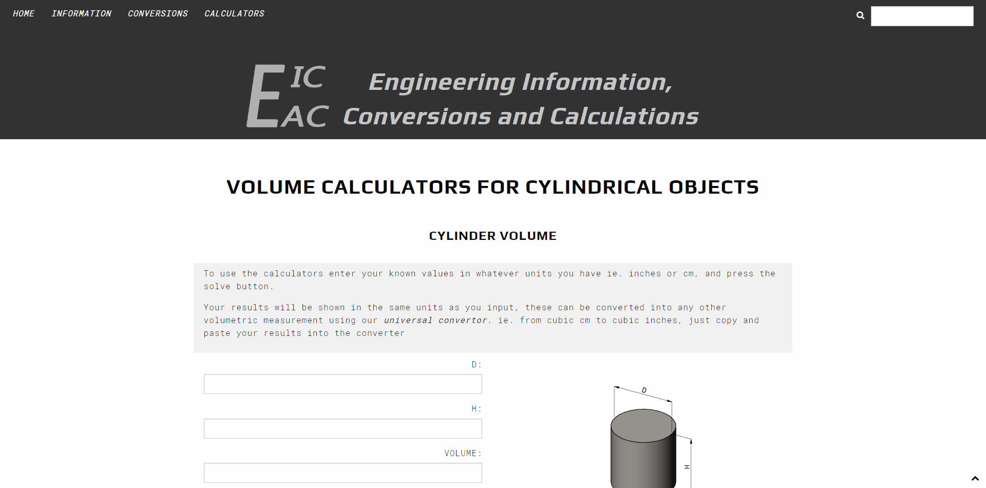Calculator Section
