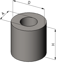 Hollow Cylinder Volume Calculator