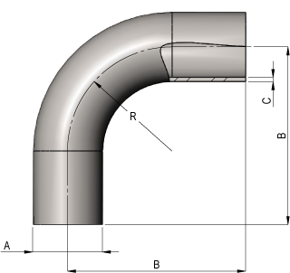 Hygeinic 90? Long Bend Dimensions