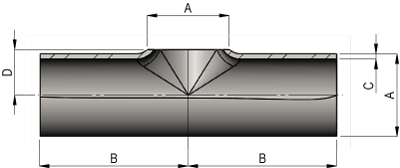 Hygeinic Pulled Equal Tee Dimensions