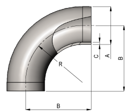 Hygeinic 90? Short Bend Dimensions