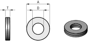 Nordlock Washer Dimensions