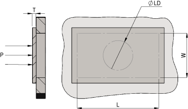 Plate Deflection - Rectangular Simply Supported with a Concentrated Load