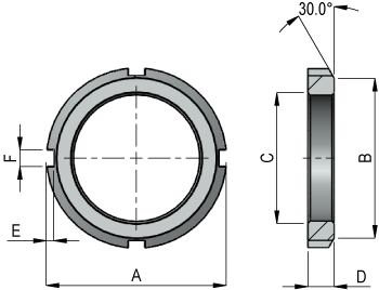 Lock Nut Dimensions