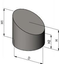 Sliced Cylinder Volume Calculator