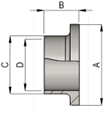 SMS Weld Liner Dimensions