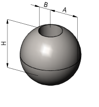 Sphere with Cylindrical Bore Volume Calculator